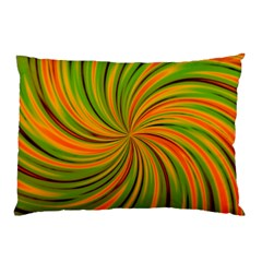 Happy Green Orange Pillow Cases by MoreColorsinLife