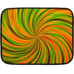 Happy Green Orange Fleece Blanket (mini) by MoreColorsinLife