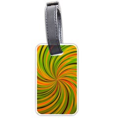 Happy Green Orange Luggage Tags (one Side)  by MoreColorsinLife