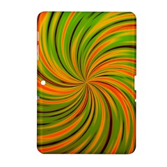 Happy Green Orange Samsung Galaxy Tab 2 (10 1 ) P5100 Hardshell Case  by MoreColorsinLife
