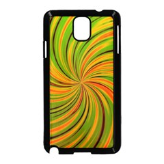 Happy Green Orange Samsung Galaxy Note 3 Neo Hardshell Case (black) by MoreColorsinLife