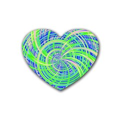 Happy Green Heart Coaster (4 Pack)