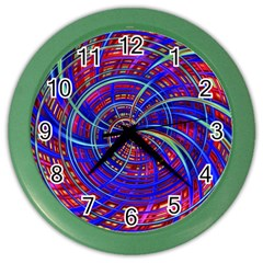 Happy Red Blue Color Wall Clocks by MoreColorsinLife