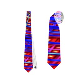 Happy Red Blue Neckties (two Side)  by MoreColorsinLife