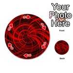 Happy, Black Red Playing Cards 54 (Round)  Front - Heart9