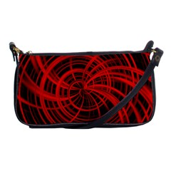 Happy, Black Red Shoulder Clutch Bags by MoreColorsinLife
