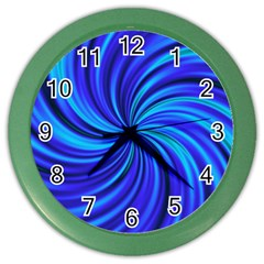 Happy, Blue Color Wall Clocks by MoreColorsinLife