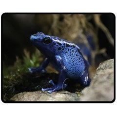 Blue Poison Arrow Frog Double Sided Fleece Blanket (medium)  by stineshop
