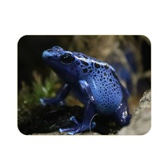 Blue Poison Arrow Frog Double Sided Flano Blanket (mini)  by stineshop
