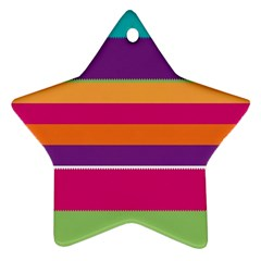 Jagged Stripes Star Ornament (two Sides)