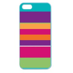 Jagged Stripes Apple Seamless Iphone 5 Case (color) by LalyLauraFLM
