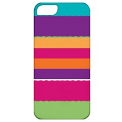 Jagged Stripes Apple Iphone 5 Classic Hardshell Case by LalyLauraFLM