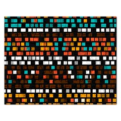 Squares Pattern In Retro Colors Jigsaw Puzzle (rectangular) by LalyLauraFLM