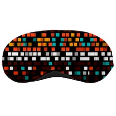 Squares Pattern In Retro Colors Sleeping Mask by LalyLauraFLM
