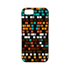 Squares Pattern In Retro Colors Apple Iphone 5 Classic Hardshell Case (pc+silicone) by LalyLauraFLM