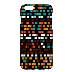 Squares Pattern In Retro Colors	apple Iphone 6 Plus Hardshell Case
