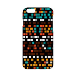 Squares Pattern In Retro Colors Apple Iphone 6 Hardshell Case by LalyLauraFLM