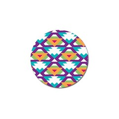 Triangles And Other Shapes Pattern Golf Ball Marker by LalyLauraFLM