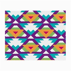 Triangles And Other Shapes Pattern Small Glasses Cloth by LalyLauraFLM