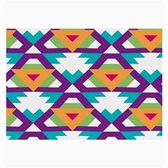 Triangles And Other Shapes Pattern Large Glasses Cloth (2 Sides) by LalyLauraFLM