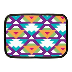 Triangles And Other Shapes Pattern Netbook Case (medium) by LalyLauraFLM