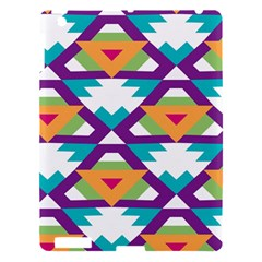 Triangles And Other Shapes Pattern Apple Ipad 3/4 Hardshell Case by LalyLauraFLM