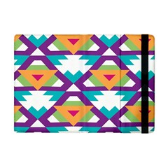 Triangles And Other Shapes Pattern Apple Ipad Mini Flip Case by LalyLauraFLM