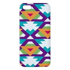 Triangles And Other Shapes Pattern Apple Iphone 5 Premium Hardshell Case by LalyLauraFLM