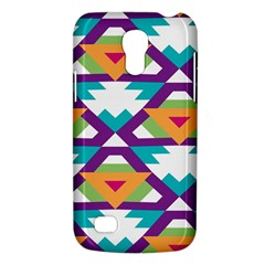 Triangles And Other Shapes Pattern Samsung Galaxy S4 Mini (gt I9190) Hardshell Case  by LalyLauraFLM