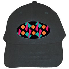 Shapes In Retro Colors  Black Cap
