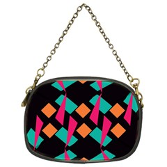 Shapes In Retro Colors  Chain Purse (two Sides) by LalyLauraFLM