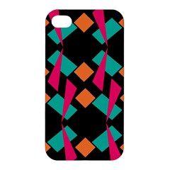 Shapes In Retro Colors  Apple Iphone 4/4s Premium Hardshell Case by LalyLauraFLM