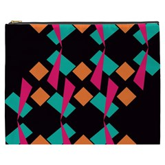 Shapes In Retro Colors  Cosmetic Bag (xxxl)