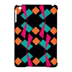 Shapes In Retro Colors  Apple Ipad Mini Hardshell Case (compatible With Smart Cover) by LalyLauraFLM