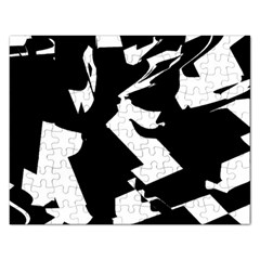 Bw Glitch 2 Rectangular Jigsaw Puzzl by MoreColorsinLife
