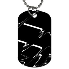 Bw Glitch 3 Dog Tag (two Sides) by MoreColorsinLife