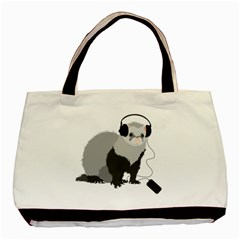 Funny Music Lover Ferret Classic Tote Bag