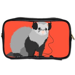 Funny Music Lover Ferret Toiletries Bags 2 Side by CreaturesStore
