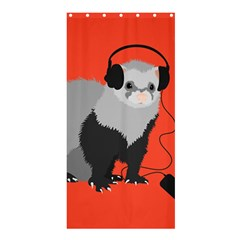 Funny Music Lover Ferret Shower Curtain 36  X 72  (stall)  by CreaturesStore