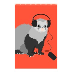 Funny Music Lover Ferret Shower Curtain 48  X 72  (small)  by CreaturesStore