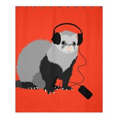 Funny Music Lover Ferret Shower Curtain 60  X 72  (medium)  by CreaturesStore