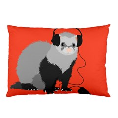 Funny Music Lover Ferret Pillow Cases (two Sides) by CreaturesStore
