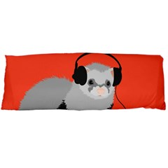 Funny Music Lover Ferret Body Pillow Cases (dakimakura)  by CreaturesStore
