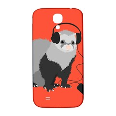 Funny Music Lover Ferret Samsung Galaxy S4 I9500/i9505  Hardshell Back Case by CreaturesStore