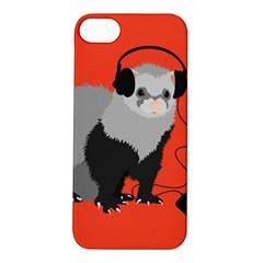 Funny Music Lover Ferret Apple Iphone 5s Hardshell Case by CreaturesStore
