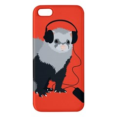 Funny Music Lover Ferret Iphone 5s Premium Hardshell Case by CreaturesStore