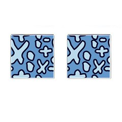 Blue Maths Signs Cufflinks (square)