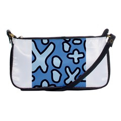 Blue Maths Signs Shoulder Clutch Bags by maregalos