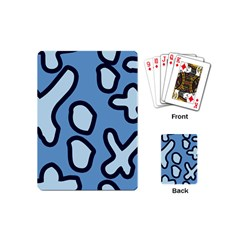 Blue Maths Signs Playing Cards (mini)  by maregalos