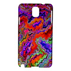 Happy 3 Red Samsung Galaxy Note 3 N9005 Hardshell Case by MoreColorsinLife